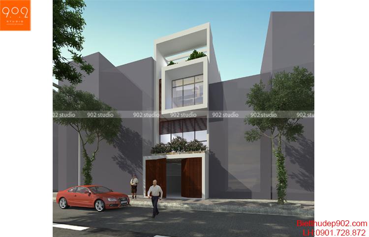 Thiết kế nhà phố - Phối cảnh 2 - NP16