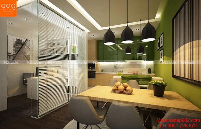 Thiết kế nội thất chung cư - Phòng bếp - NT11