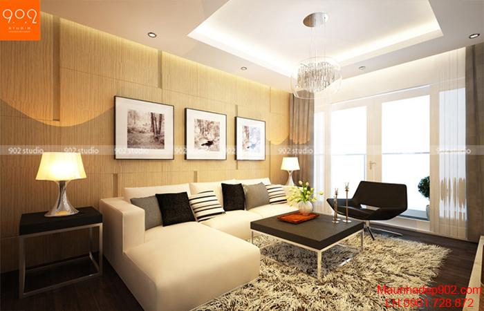 Thiết kế nội thất chung cư - Phòng khách - NT11
