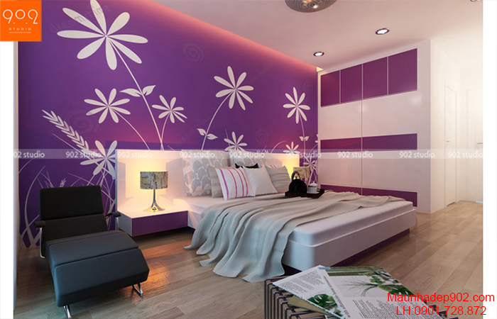 Thiết kế nội thất chung cư -Phòng ngủ bố mẹ - NT11