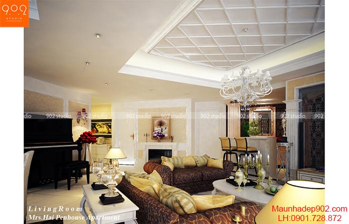 Thiết kế nội thất chung cư - Phòng khách 1 - NT06