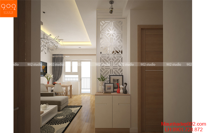 Thiết kế nội thất chung cư - Phòng khách - NT12