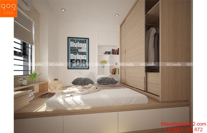 Thiết kế nội thất chung cư - Phòng ngủ - NT12