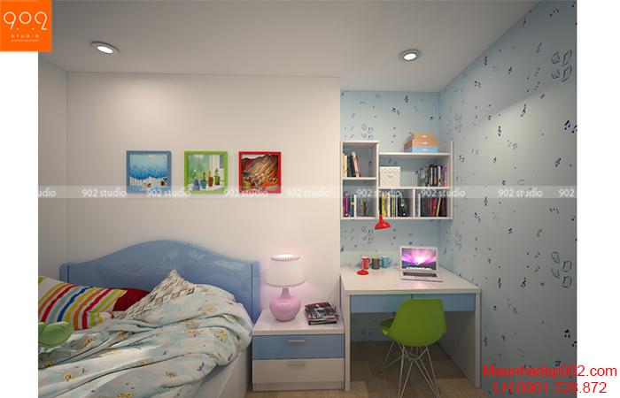 Thiết kế nội thất chung cư - Phòng ngủ con gái - NT12