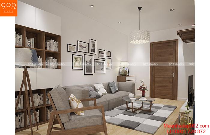 Thiết kế nội thất chung cư - Phòng khách 1 - NT04