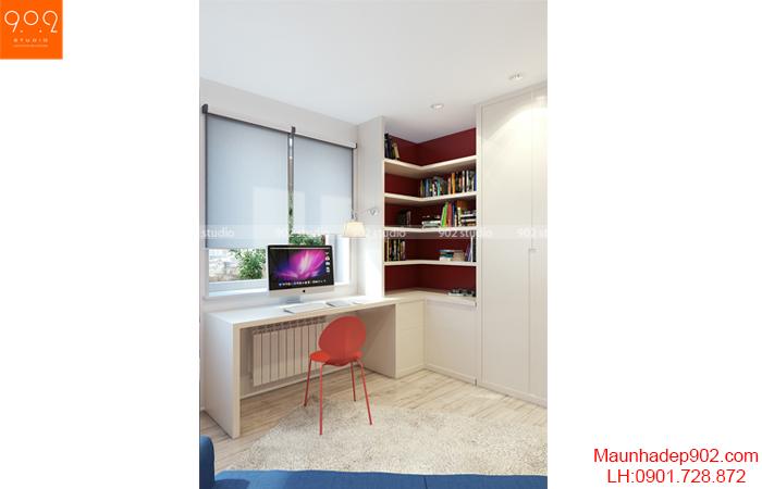 Thiết kế nội thất chung cư - Phòng làm việc - NT13