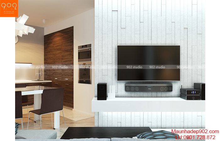 Thiết kế nội thất chung cư - Phòng khách - NT13