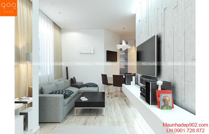 Thiết kế nội thất chung cư - Phòng khách 3 - NT13