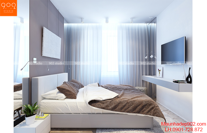 Thiết kế nội thất chung cư - Phòng ngủ - NT13
