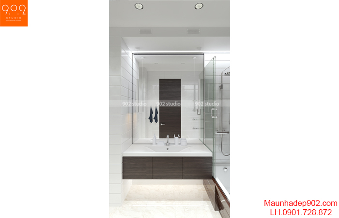 Thiết kế nội thất chung cư - Phòng tắm - NT13