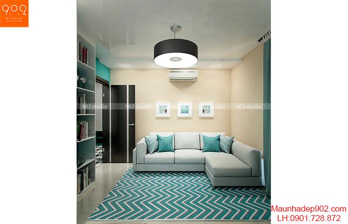 Thiết kế nội thất chung cư - Phòng khách - NT02