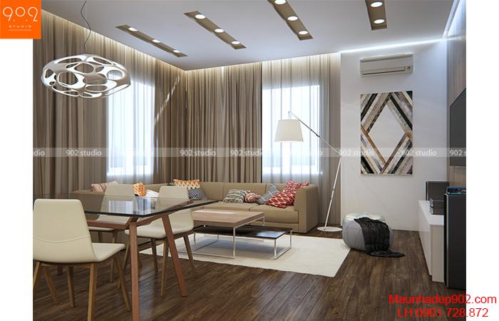 Thiết kế nội thất chung cư - Phòng khách 1 - NT14