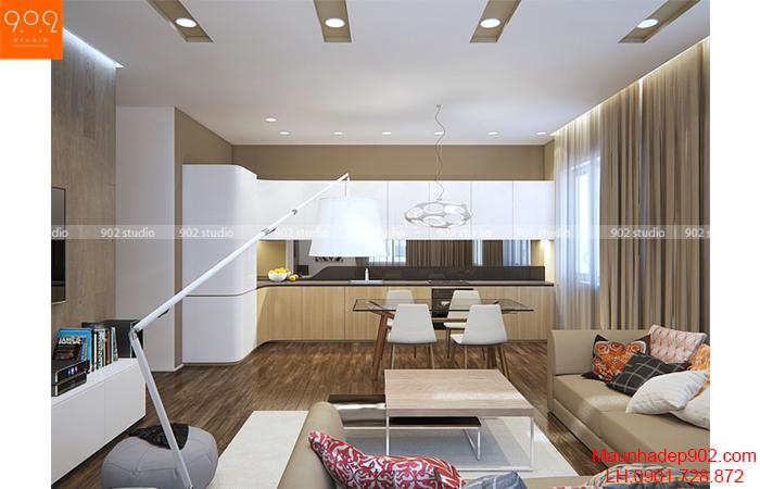 Thiết kế nội thất chung cư - Phòng khách - NT14