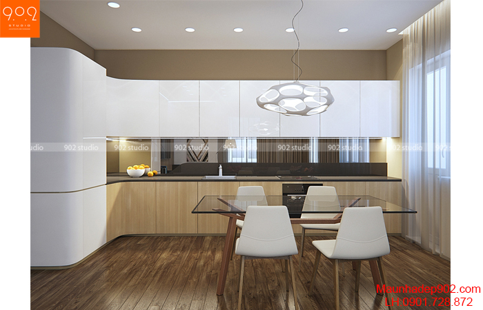 Thiết kế nội thất chung cư - Phòng bếp - NT14