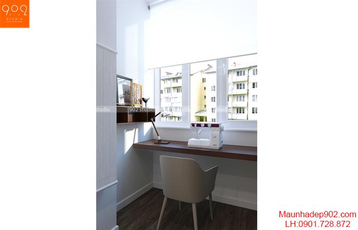Thiết kế nội thất chung cư - Góc làm việc - NT14