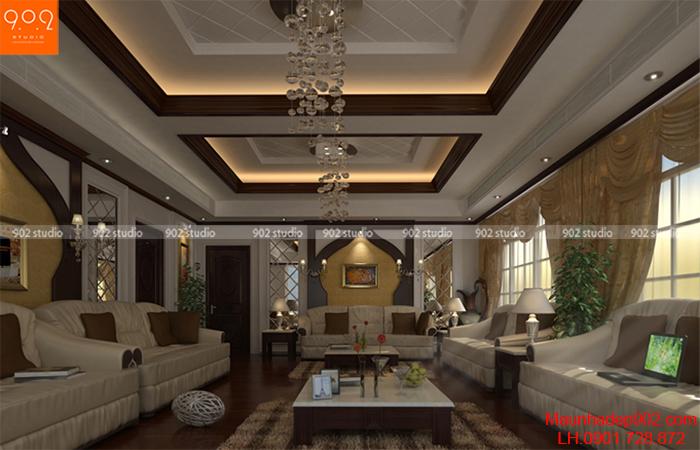 Thiết kế nội thất biệt thự đẹp - phòng khách - NT08