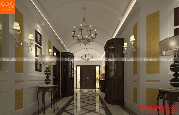 Thiết kế nội thất biệt thự - hành lang - NT08