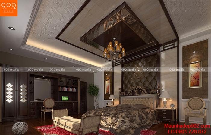 Thiết kế nội thất biệt thự - phòng ngủ - NT08