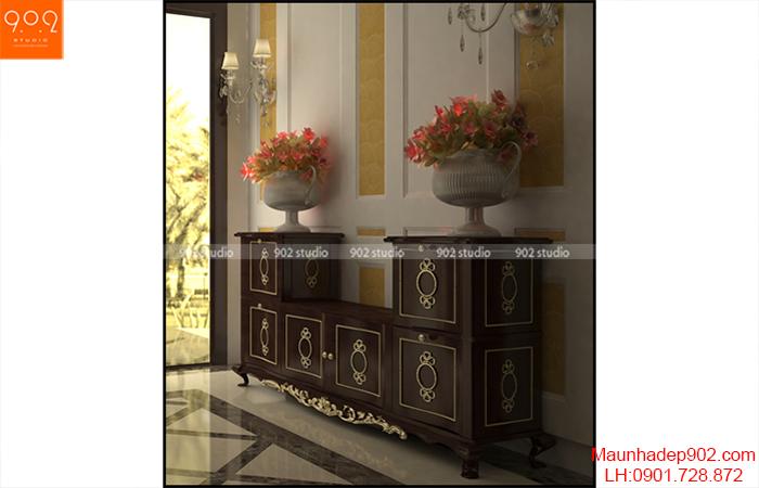 Thiết kế nội thất biệt thự - lối ra vào - NT08
