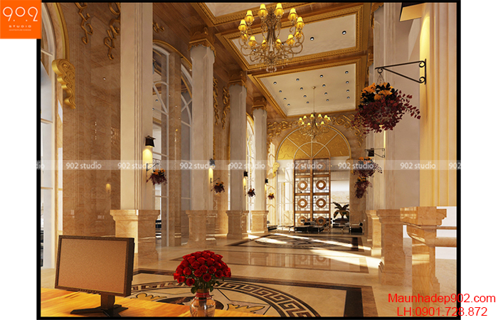 Thiết kế nội thất khách sạn - Sảnh 1 - NT07