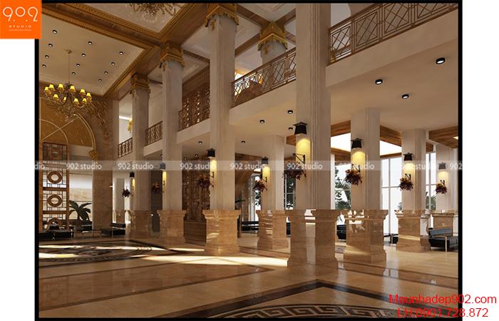 Thiết kế nội thất khách sạn - sảnh - NT07