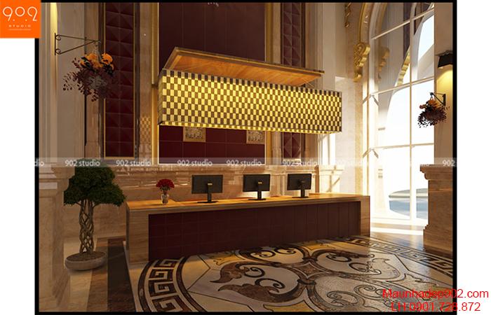 Thiết kế nội thất khách sạn - Khu vực tiếp tân - NT07