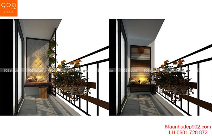 Thiết kế nội thất chung cư - Ban công - NT09