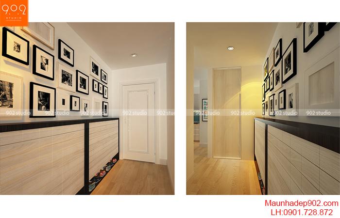 Thiết kế nội thất chung cư - Hành lang - NT09