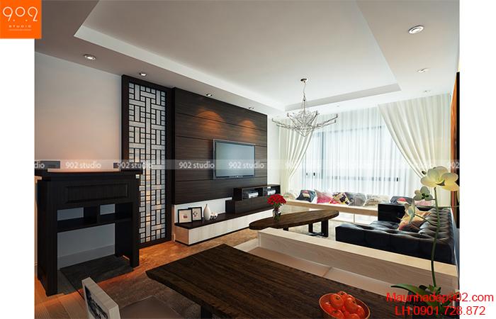 Thiết kế nội thất chung cư - Phòng khách - NT09
