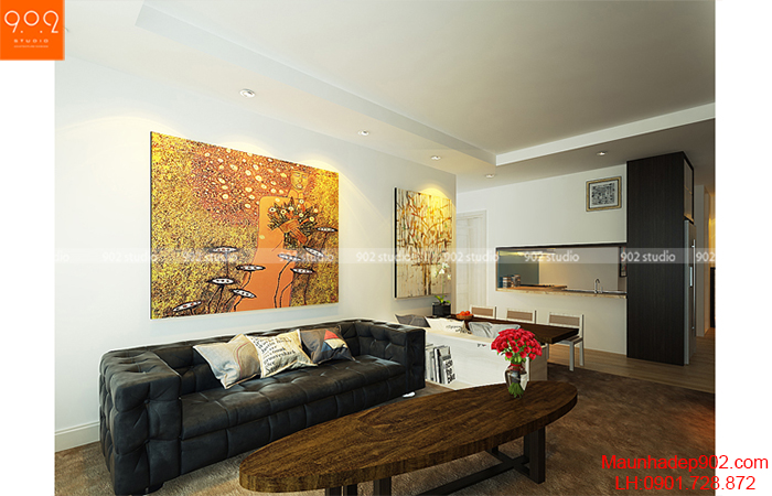 Thiết kế nội thất chung cư -Phòng khách 3 - NT09