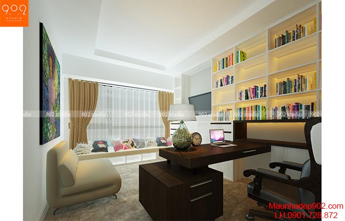 Thiết kế nội thất chung cư - Phòng làm việc - NT09