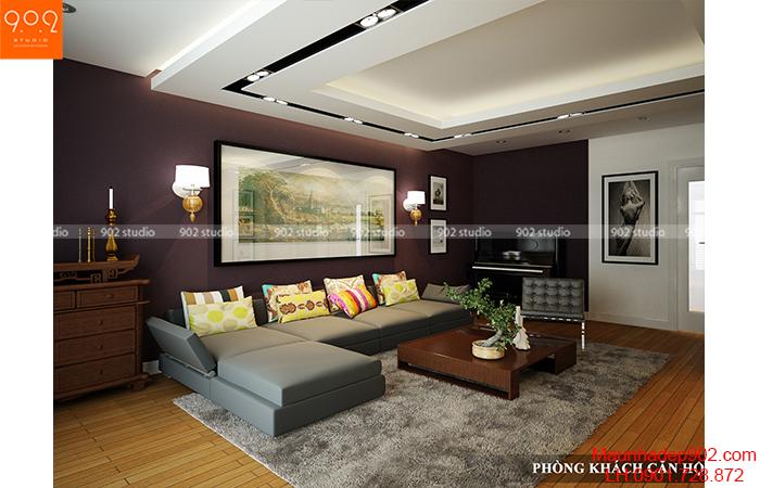 Thiết kế nội thất chung cư - Phòng khách 2 - NT03