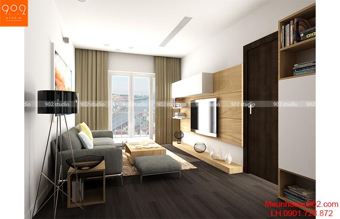 Thiết kế nội thất chung cư - Phòng khách - NT01