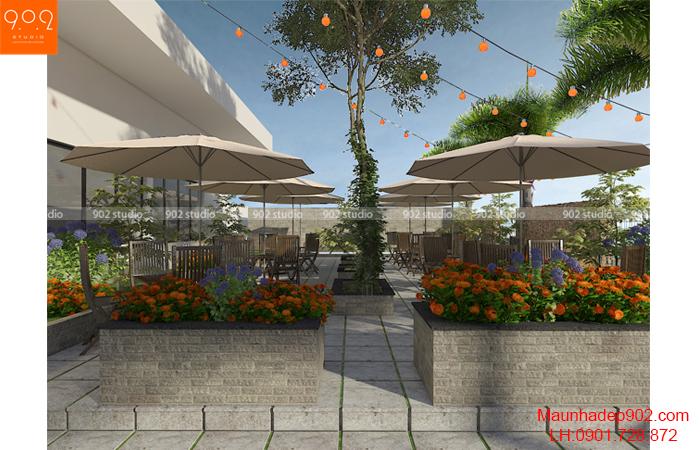 Thiết kế nội thất nhà hàng - NH03