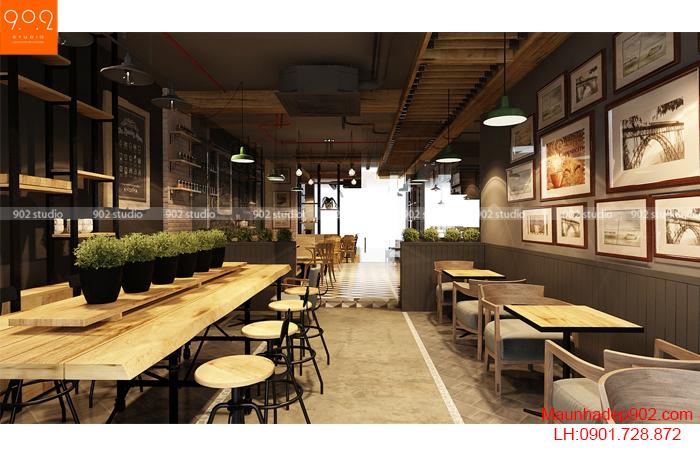Thiết kế nội thất quán cà phê - NH05