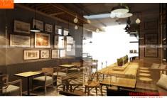 Thiết kế nội thất quán cafe - Phối cảnh 6 - NH05
