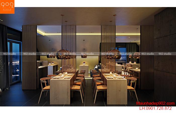 Thiết kế nội thất quán cafe - Phối cảnh 1 - NH01