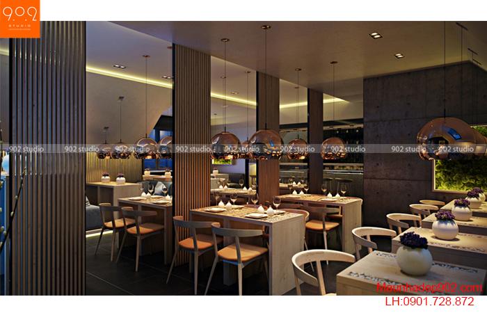 Thiết kế nội thất quán cafe - Phối cảnh 2 - NH01