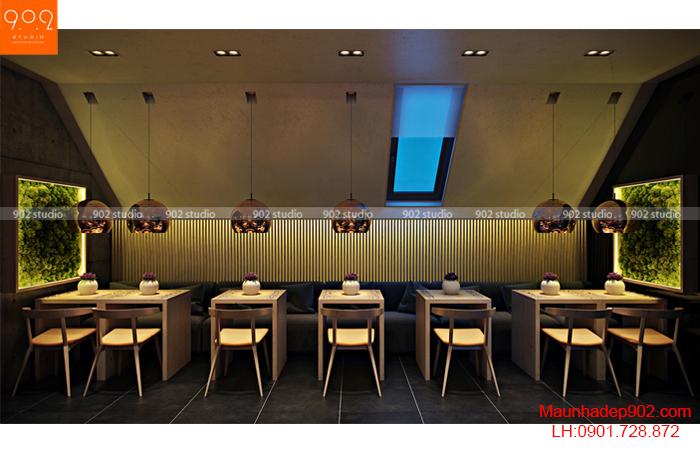 Thiết kế nội thất quán cafe - Phối cảnh 3 - NH01