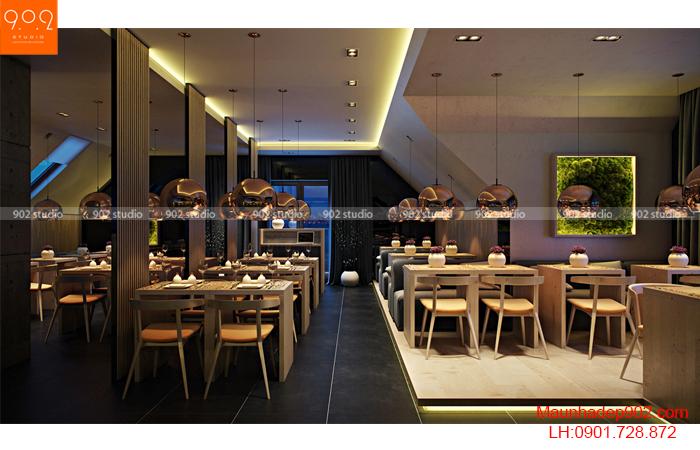 Thiết kế nội thất quán cafe - Phối cảnh 4 - NH01