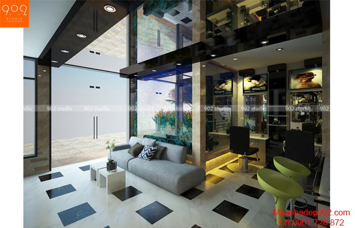 Thiết kế nội thất solon - Tầng 1-1- NH02