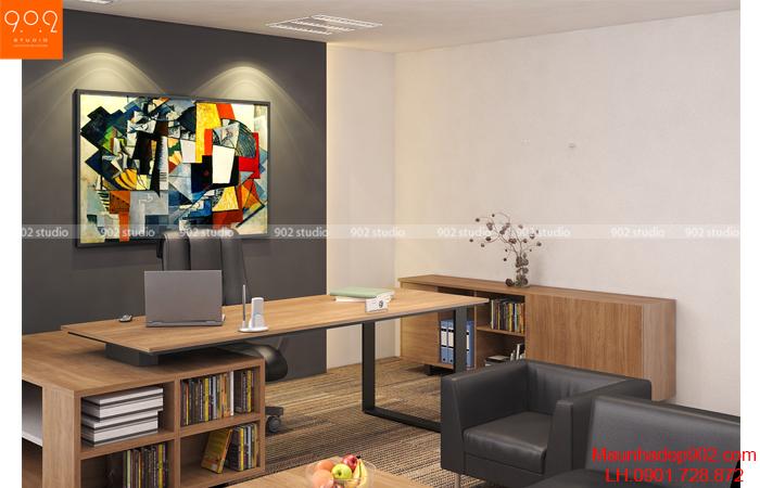 Thiết kế nội thất văn phòng - Phòng giám đốc- NT18
