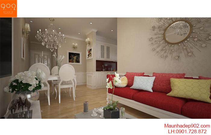 Thiết kế nội thất căn hộ chung cư - NT20