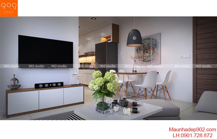 Thiết kế nội thất nhà chung cư - Phòng khách 1 - NT16
