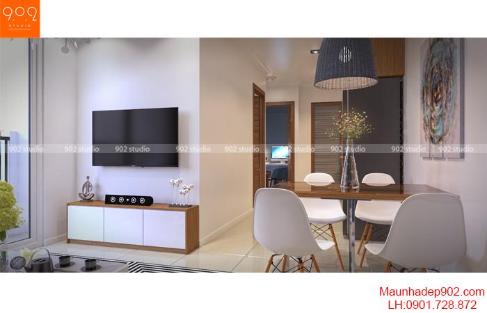 Thiết kế nội thất nhà chung cư - Phòng khách 2 - NT16