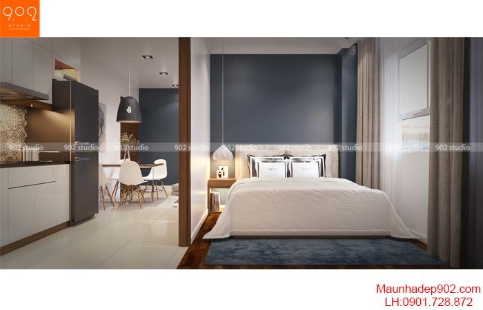 Thiết kế nội thất nhà chung cư - Phòng ngủ 1- NT16