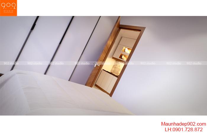 Thiết kế nội thất nhà chung cư - Phòng ngủ 2 - NT16