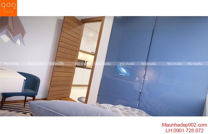 Thiết kế nội thất nhà chung cư - Phòng ngủ 3 - NT16