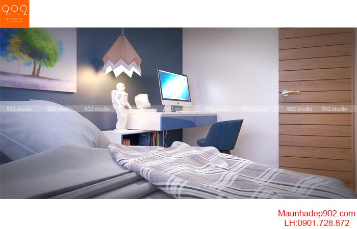 Thiết kế nội thất nhà chung cư - Phòng ngủ 4 - NT16