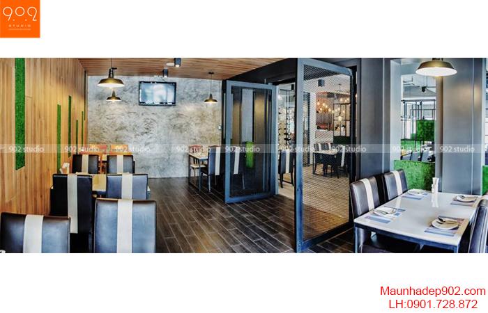 Thiết kế nội thất nhà hàng - Phối cảnh 6- NH06